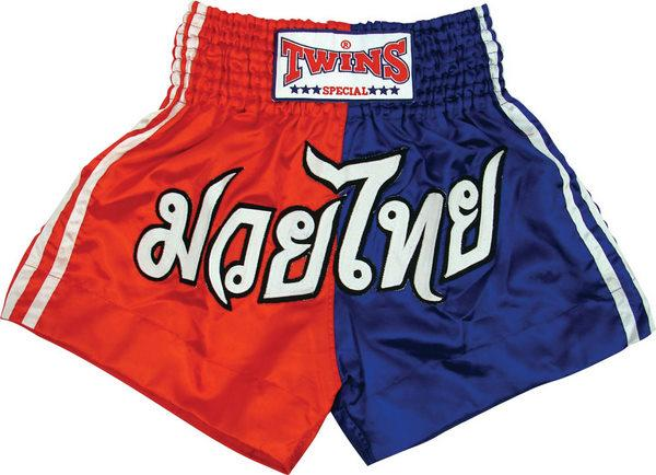Twins Twins Thai Style Trunks Red/Blue Block